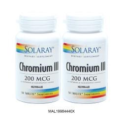 SOLARAY CHROMIUM III 50C TWINPACK (MAL19984440X)